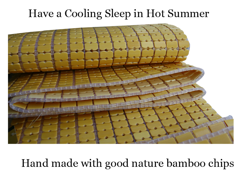 Chinese Design Summer Cooling Natural Bamboo Bed Mattress