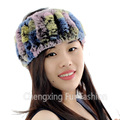 CX-E-37D Knitted Wholesale Fashion Genuine Rex Rabbit Fur Hair Headband