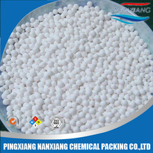 Activated alumina for drying in air seperation