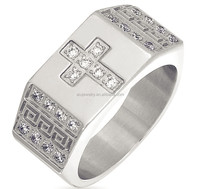 Low price promotional sterling silver men's cz jewelry ring