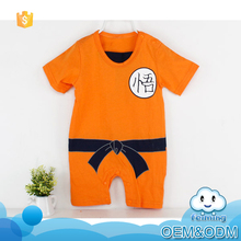 New born baby clothes factory directory 2016 summer good quality the monkey king animal organic cotton baby romper