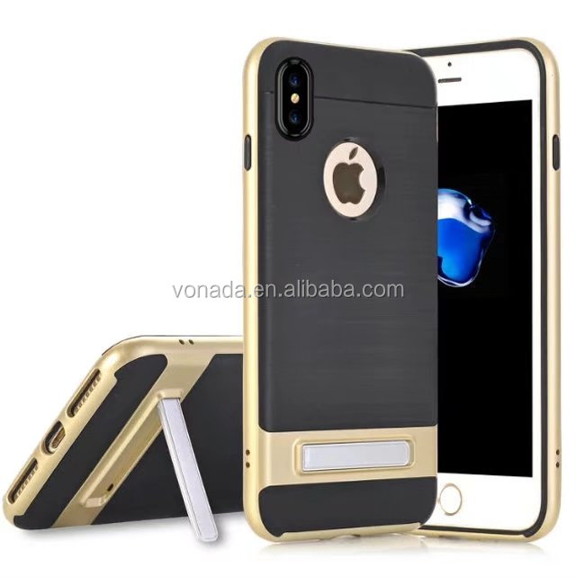 Armor Plastic Kickstand Shockproof Back Cover Case for iPhone 8