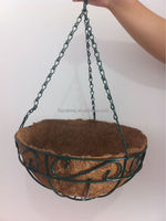 Hanging baskets with Coconut Liner for sale(factory)