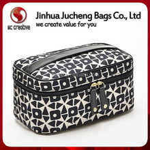 Manufacture cheap hard makeup case with PU handle cheap cosmetic bag