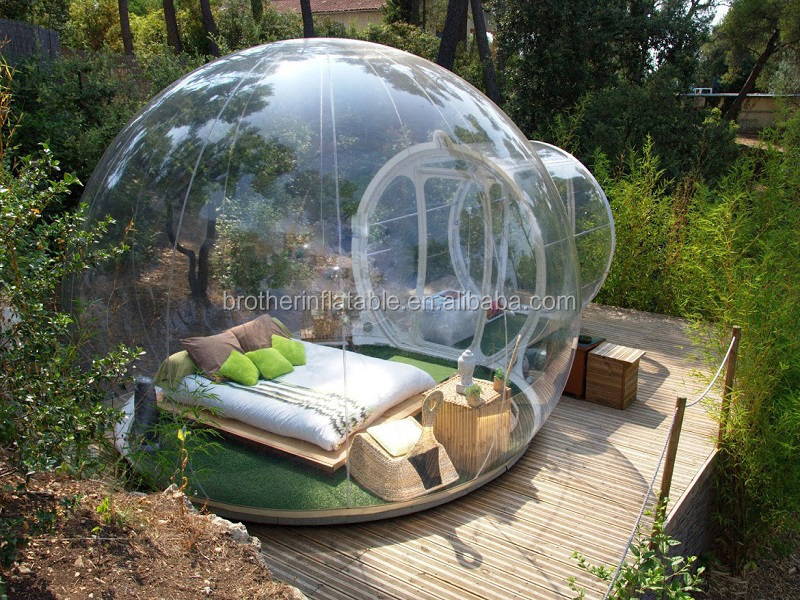 Customized PVC transparent bubble tent / outdoor inflatable room tent / inflatable clear dome tent for sale