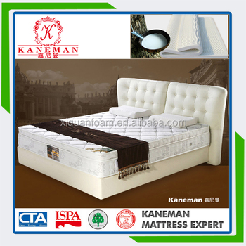 Modern bedroom funiture euro pillow top healthy latex pocket pring mattress
