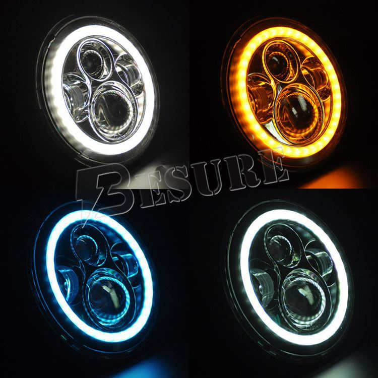 7 auto led scheinwerfer runde led kopf gl hbirne motorrad. Black Bedroom Furniture Sets. Home Design Ideas