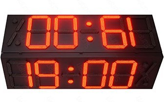 outdoor led clock time date temperature sign
