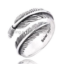 Thai Silver Retro Angel Wing Ring 925 Sterling Silver Feather Couple Ring Wholesale Price
