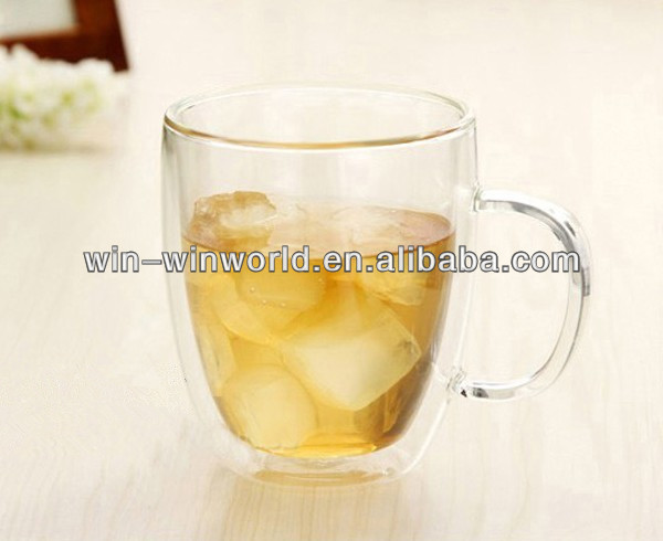 World Cup 2014 Promotional Glass Ice Beer Mug With Handle