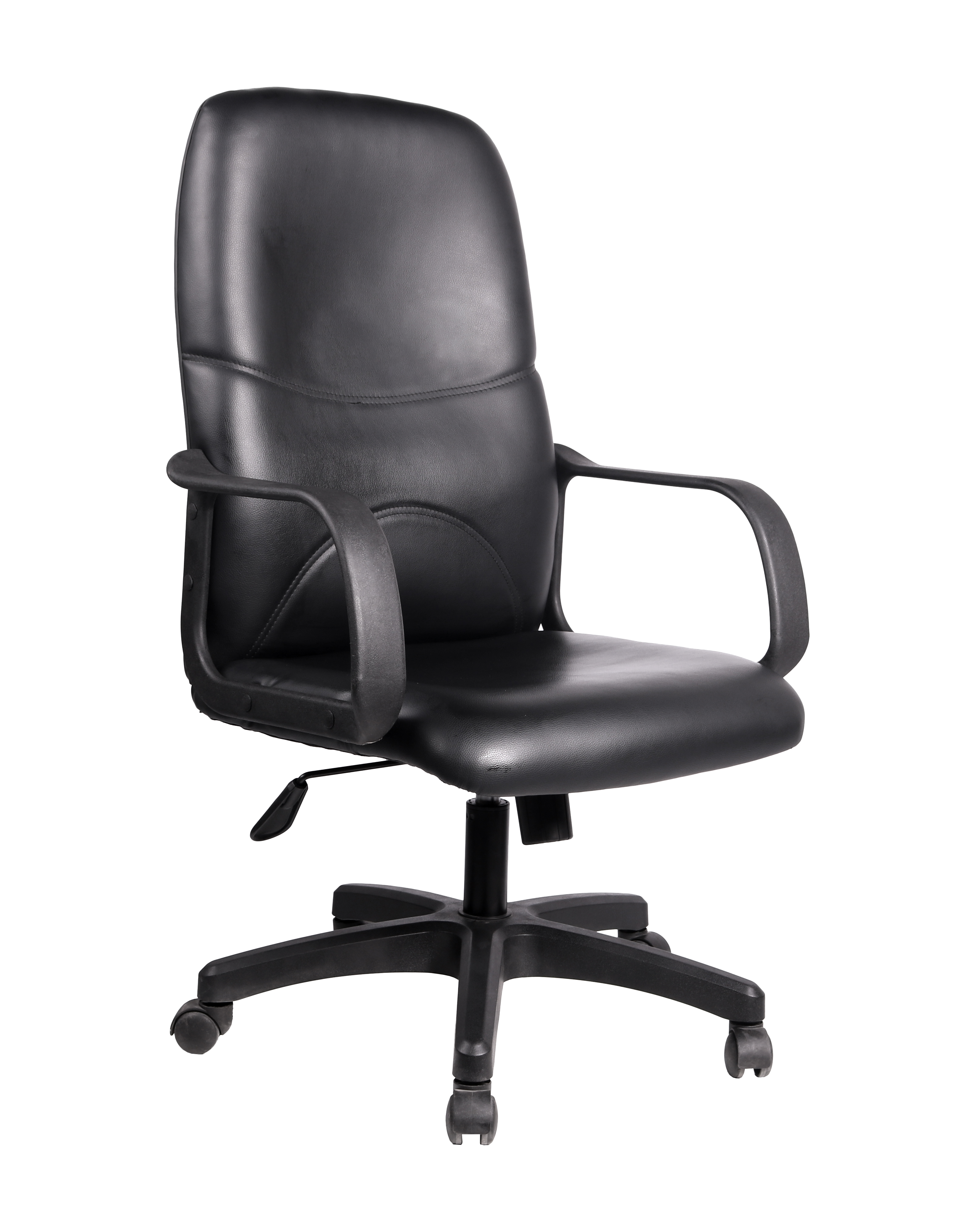 Modern leather office chair mid back swivel pu leather office chair executive office chair