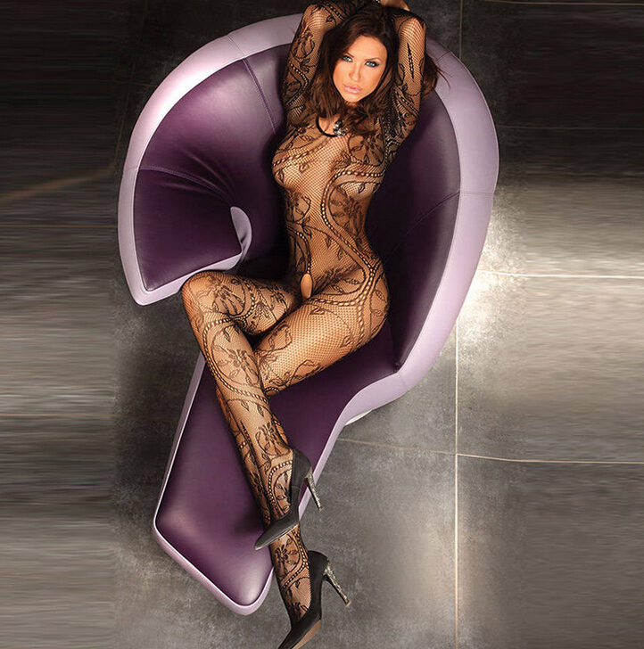 Very Sexy Crotchless Bodystocking For Mature Woman Lingerie Erotic Design