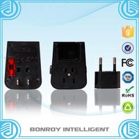 China wholesale ac dc 5v 2.1a quick charge dual usb universal world travel adaptor with eu uk aus usa plugs