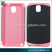 Hybrid 2014 new trendy plastic pc silicon case for samsung galaxy note 3