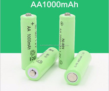 Sunrising ni mh aa 1000mah 1.2v rechargeable batterie/battery solar/ 1000ma aa rechargeable ni-mh battery 1.2v