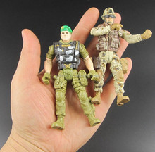 3.75 inch action figure,articulated soilder plastic action figure, mini action figure for collection