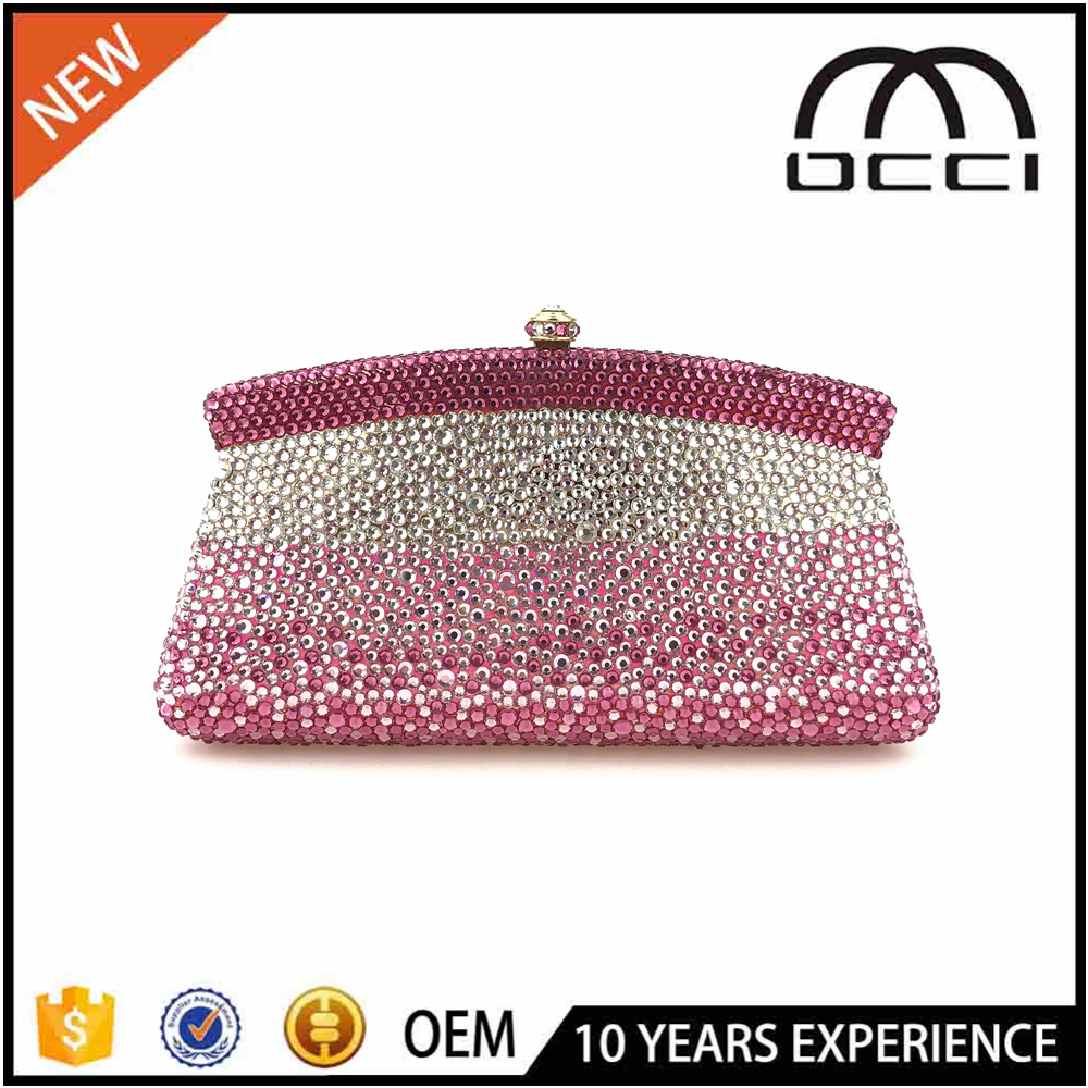 2017 Ladies Party Wear Bags High Quality Evening Clutch Crystal Stone Bag OC3228