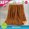 shaoxing manufacturer hot sale high quality Luxury Faux Fur thick Throw Blanket borrego blanket