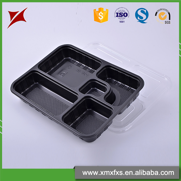 Microwave safe disposable recyclable blister PP food lunch tray