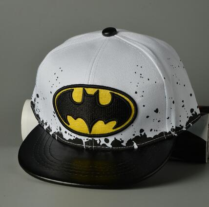 wholesale promotion cheap Lovely BAT MAN embroidery leather brim Baseball hats funny children child baby kids snapback caps