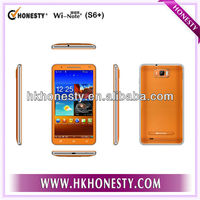 6 inch touch screen mtk6577 android 4.1 cheapest 3g android dual sim mobile phone