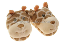 plush newborn baby winter cartoon giraffe shoes/soft sole baby shoes