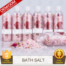 OEM Essential Oil Real Flower Petals Added Red Bath Epsom Sea Salt