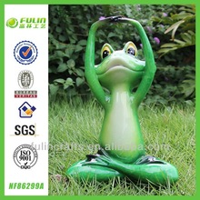 New Products 2014 Resin Garden Yoga Frog