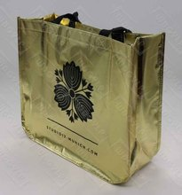 Glossy Gold Metalic Laminated PP Non Woven Tote Bag