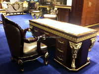 BISINI Baroque Collection Luxury Antique Gilded Executive Office Desk