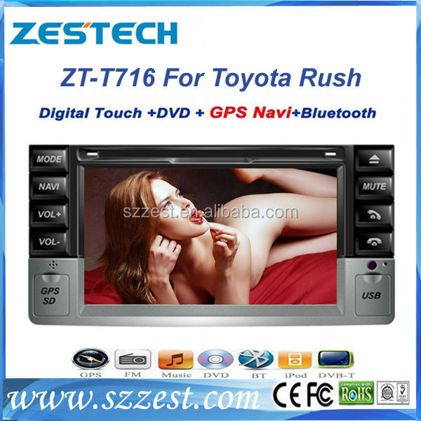 ZESTECH Shenzhen Alibaba stock price car dvd vcd cd mp3 mp4 player with car dvd for Toyota Rush