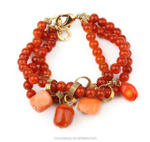 Latest Design Factory Price Coral Bead Pulsera