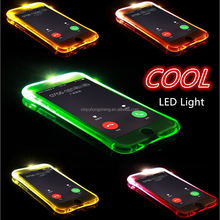 Amazon Shining LED Light UP Luminous Fashion Mobile Phone Case For iphone 6S 6SPlus Soft TPU Back Cover For iPhone 7 8 X