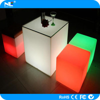 new product rechargeable color changing led cube chair light / led chairs and tables for bars/gardens/pool/home decoration