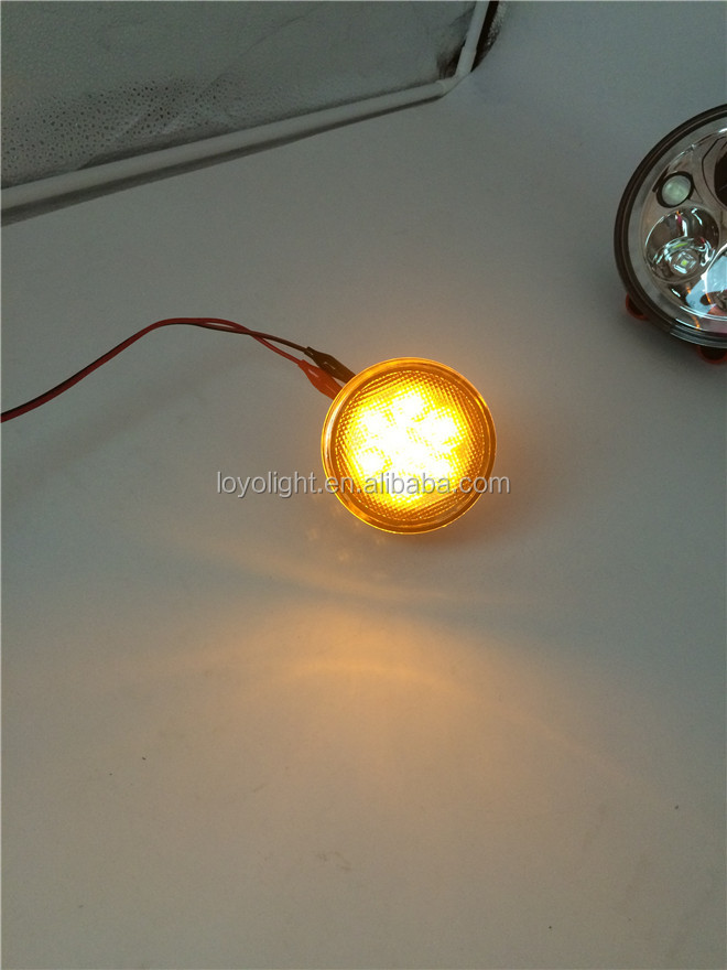 LOYO 12V 2000K Smoke Clear Turn Signal Light for Jeep Wrangler