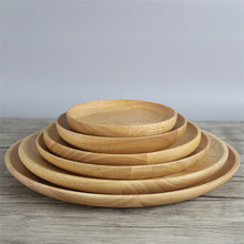 Wholesale Round Bamboo Wood Charger <strong>Plate</strong> Bamboo Food Serving Dinner <strong>Plate</strong> Bamboo <strong>Plate</strong> With Custom Logo Available