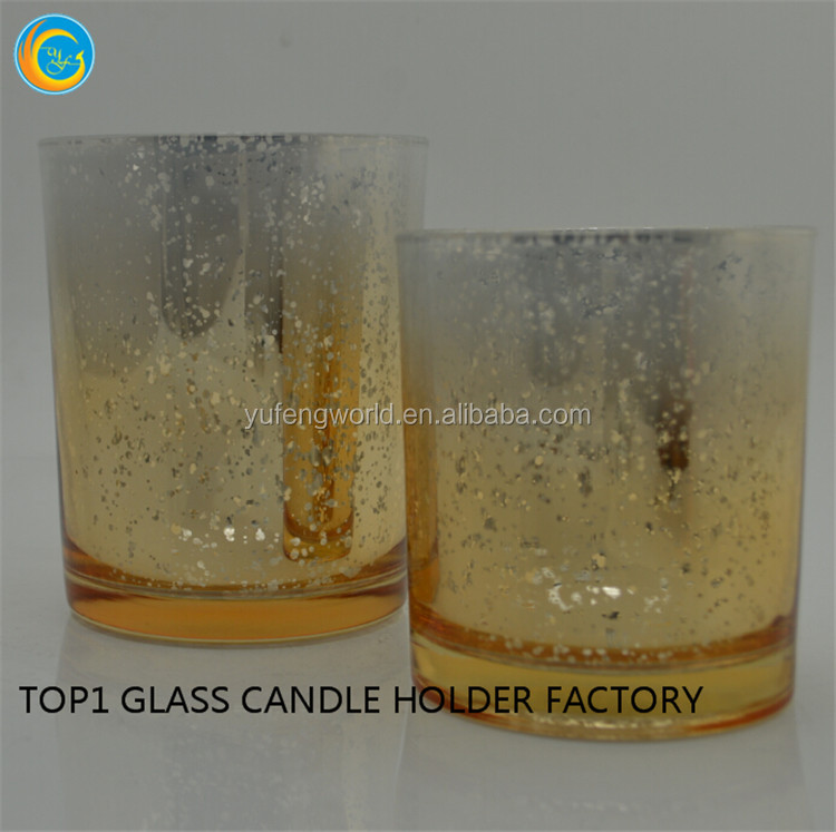 cheap votive mercury glass candle holder yufeng