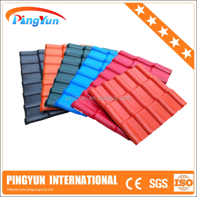 asa plastic material/spanish synthetic resin roof tile/PVC roof sheet