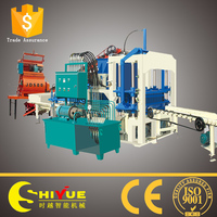 QT4-20 concrete compressed hollow blocks making machines