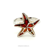 high quality gemstone jewelry silver , popupar fire opal star rings wholesale