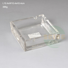 beautiful cigar square antique ashtray glass