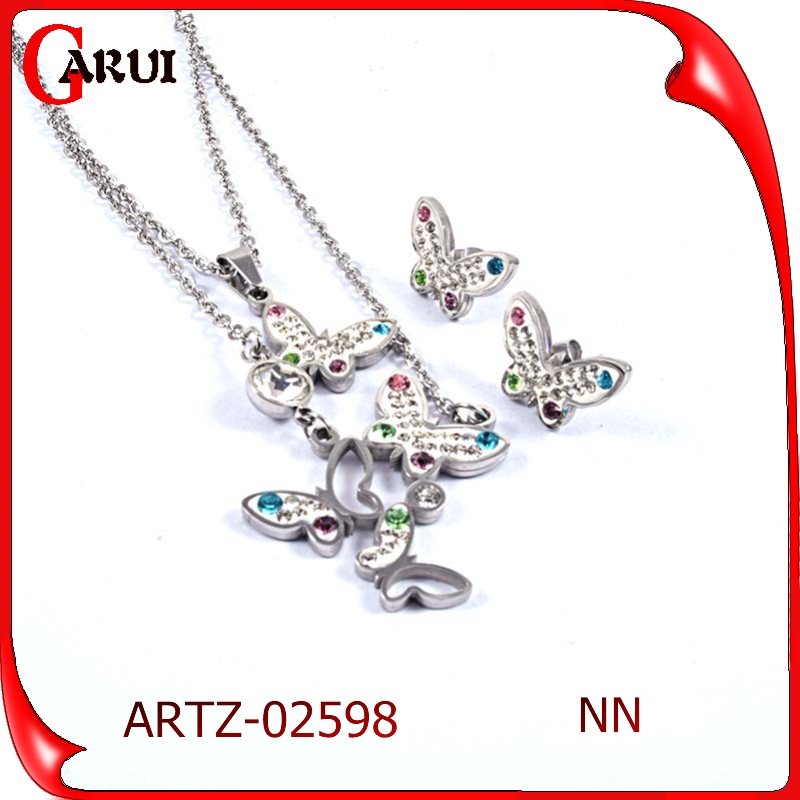 Stainless Steel Jewelry Wholesale factory sell statement necklace sets rhinestone jewelry set for bridal jewelry set 2015 wholes
