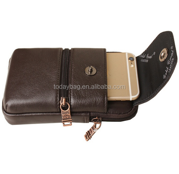 import mobile phone accessories soft leather cell phone pouches for men