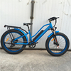 48v 500w fat tire 8 fun mid drive motor snow bike bicycle with lithium battery
