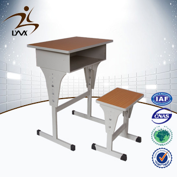Henan mingxiu school classroom student desk and chair / adjustable height children desk and chair