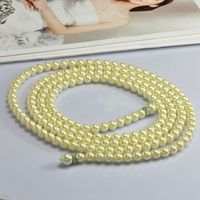 2016 New Fashion Women Long gold Pearl Necklace Valentine's day Love Gift Necklaces Accessories collier jewelry