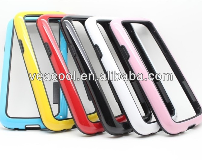 Double Colors TPU Bumper Frame Case Skin Cover for Samsung Galaxy s4 mini i9190 Case