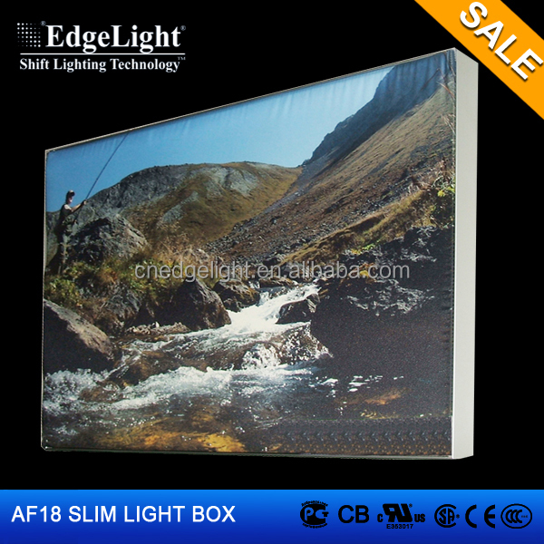 hot selling new products A3 <strong>size</strong> Ultra thin AF18 LED <strong>advertising</strong> display backlit fabric light <strong>box</strong> frame poster frame