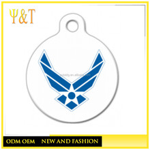 Cheap Air Force logo dog tag for military family pets, custom engraved logo military tags(QD-0122)