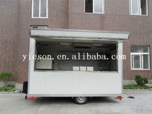 yieson made mobile food caravan / fast food caravan with generator / dount & coffee & shave ice, roast beef house